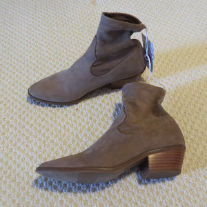 Tan/Brown Ankle Sock Booties Boots Sz 6.5 NWT